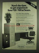 1978 Sears Office Furniture Ad - Files, Desk, Chair