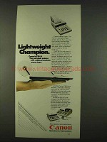 1978 Canon P10-D Calculator Ad - Lightweight Champion