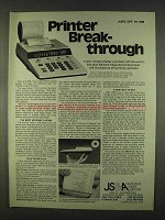 1978 Canon P10-D Calculator Ad - Printer Break-Through