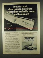 1978 Federal Express Courier Pak Ad - Coast to Coast