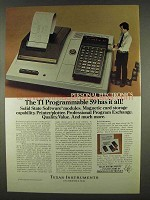 1978 TI Programmable 59 Calculator & PC-100A Printer Ad