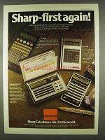 1978 Sharp Calculator Ad - EL-5808 EL-8144E EL-8145