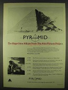 1978 Alan Parsons Project Pyramid Album Ad