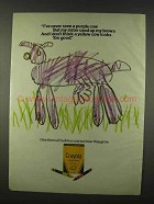 1978 Crayola Crayons Ad - Never Seen a Purple Cow