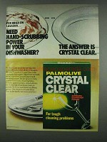 1978 Palmolive Crystal Clear Detergent Ad - Lasagna