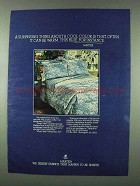 1978 Martex Silver Forest Linens Ad - Cool Color
