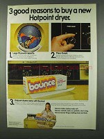 1978 Bounce Dryer Sheets Ad - Hotpoint Dryer