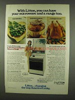 1978 Litton Combination Microwave Range Ad