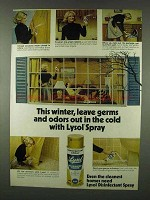 1978 Lysol Spray Ad - Germs and Odors in the Cold