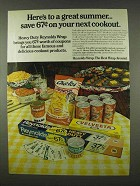 1978 Reynolds Wrap Ad - Here's To a Great Summer