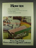1978 Purex Toss'n Soft Fabric Softener Ad - How To: