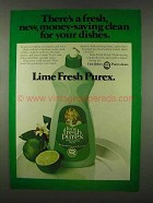 1978 Lime Fresh Purex Dishwashing Liquid Ad - Fresh