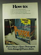 1978 Purex Heavy-Duty Detergent Ad - How To: