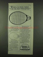 1978 Dunlop Volley II Tennis Racquet Ad