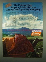1978 Coleman Sleeping Bag Ad - Shop for Details