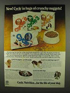 1978 Cycle Dog Food Ad - Bags of Crunchy Nuggets