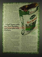 1978 Scotts Turf Builder Ad - Half Hour With
