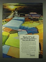 1978 Sears Medley Perma-Prest Percales Sheets Ad