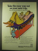 1978 Sheraton-Heathrow Hotel Ad - Easy Way Out