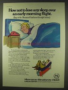 1978 Sheraton-Heathrow Hotel Ad - Not to Lose Sleep