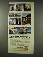 1978 Best Western Motel Ad - Largest Lodging Chain