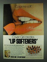 1978 Cover Girl Lip Softeners Lipsticks Ad - Color Me