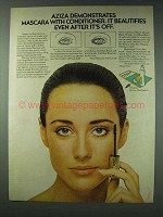 1978 Aziza Mascara with Conditioner Ad - Beautifies