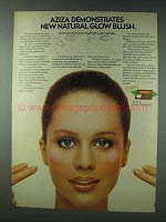 1978 Aziza Natural Glow Blush Ad