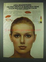 1978 Aziza Natural Lustre Lipstick Ad - Blend Color