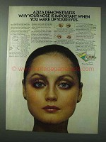1978 Aziza Shadow Trios Ad - Why Nose is Important