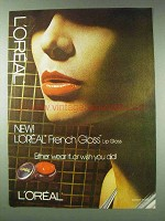 1978 L'oreal French Gloss Lip Gloss Ad