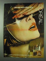 1978 L'oreal Lip Accents and Nail Accents Ad