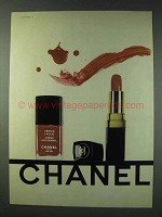 1978 Chanel Vernis Laque Nail Enamel & Lipstick Ad