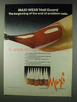 1978 Max Factor Maxi-Wear Nail Guard Ad