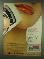 1978 Helena Rubinstein Brush-On Lips Ad