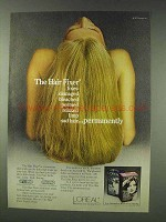 1978 L'Oreal The Hair Fixer Ad - Fixes Damaged Hair