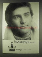1978 Prince Matchabelli Wind Song Perfume Ad