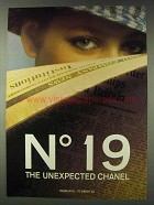 1978 Chanel No 19 Perfume Ad - The Unexpected