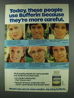 1978 Bufferin Medicine Ad - They're More Careful