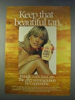 1978 Coppertone Tan Care Tanning Lotion Ad - Keep Tan