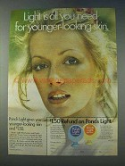 1978 Pond's Light Ad - Need For Younger-Looking Skin
