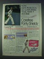 1978 Carefree Panty Shields Ad - Light Protection