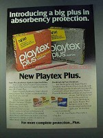 1978 Playtex Plus Tampons Ad - Absorbency Protection