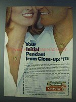 1978 Close-Up Toothpaste Ad - Your Initial Pendant