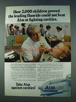 1978 Aim Toothpaste Ad - 2,000  Children Proved