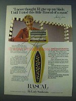 1978 Lady Sunbeam Rascal Razor Ad - Shirley Jones