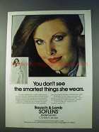 1978 Bausch & Lomb Soflens Contact Lenses Ad