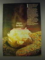 1978 The Potato Board Ad - 99.9% Fat-Free