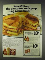 1978 Log Cabin Syrup and Pancake Mix Ad - Save