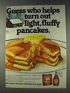 1978 Log Cabin Syrup and Pancake Mix Ad - Guess Who